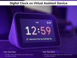 Digital Clock On Virtual Assistant Device