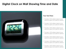 Digital Clock On Wall Showing Time And Date