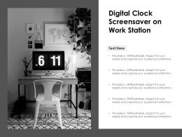 Digital Clock Screensaver On Work Station