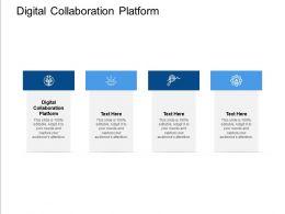 Digital Collaboration Platform Ppt Powerpoint Presentation Portfolio Graphic Images Cpb