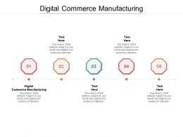 Digital Commerce Manufacturing Ppt Powerpoint Presentation Professional Show Cpb