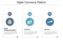 Digital Commerce Platform Ppt Powerpoint Presentation Layouts Slides Cpb