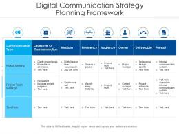 Digital Communication Strategy Planning Framework