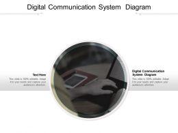 Digital Communication System Diagram Ppt Powerpoint Presentation Outline Show Cpb