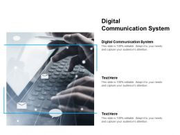 Digital Communication System Ppt Powerpoint Presentation File Clipart Images Cpb