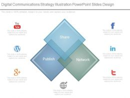 Digital Communications Strategy Illustration Powerpoint Slides Design