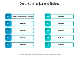 Digital Communications Strategy Ppt Powerpoint Presentation Summary Cpb