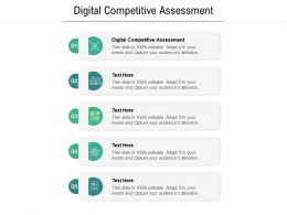 Digital Competitive Assessment Ppt Powerpoint Presentation Outline Model Cpb