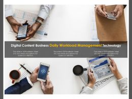 Digital Content Business Daily Workload Management Technology