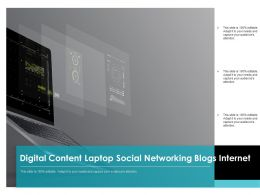 Digital Content Laptop Social Networking Blogs Internet