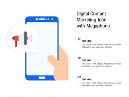 Digital Content Marketing Icon With Megaphone