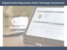 Digital Content Represents Charts Tab Image Touchscreen