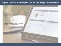 Digital Content Represents Charts Tab Image Touchscreen