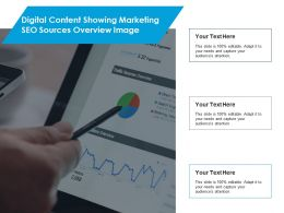 Digital Content Showing Marketing Seo Sources Overview Image