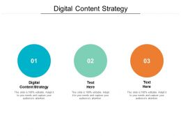Digital Content Strategy Ppt Powerpoint Presentation Outline Master Slide Cpb