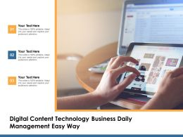 Digital Content Technology Business Daily Management Easy Way
