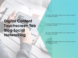 Digital Content Touchscreen Tab Blog Social Networking