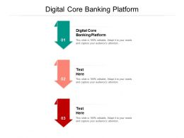 Digital Core Banking Platform Ppt Powerpoint Presentation Infographic Template Infographics Cpb
