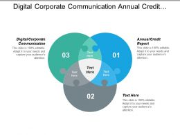 Digital Corporate Communication Annual Credit Report Fund Transfer Cpb