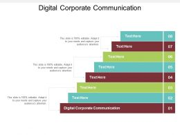 Digital Corporate Communication Ppt Powerpoint Presentation Microsoft Cpb