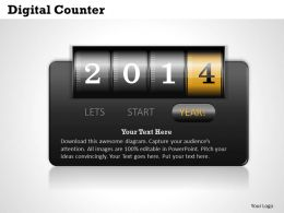 Digital Counter Powerpoint Template Slide