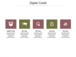 Digital Credit Ppt Powerpoint Presentation Layouts Summary Cpb