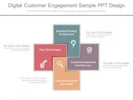 Digital Customer Engagement Sample Ppt Design