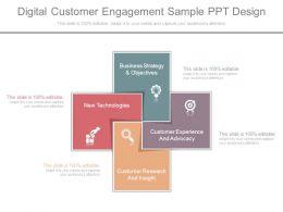 Digital Customer Engagement Sample Ppt Design