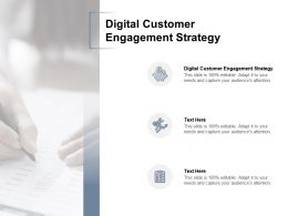 Digital Customer Engagement Strategy Ppt Powerpoint Presentation Portfolio Visuals Cpb