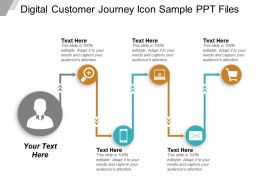 Digital Customer Journey Icon Sample PPT Files