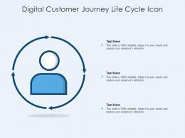 Digital Customer Journey Life Cycle Icon