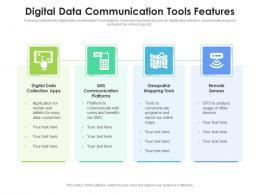 Digital Data Communication Tools Features