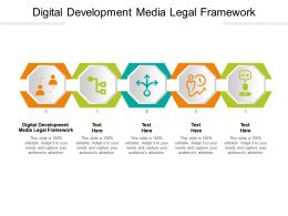 Digital Development Media Legal Framework Ppt Powerpoint Presentation Layouts Smartart Cpb