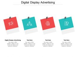 Digital Display Advertising Ppt Powerpoint Presentation File Template Cpb