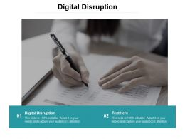 Digital Disruption Ppt Powerpoint Presentation Infographics Maker Cpb