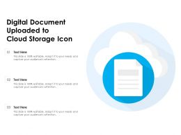 Digital Document Uploaded To Cloud Storage Icon