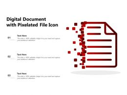 Digital Document With Pixelated File Icon