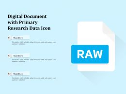 Digital Document With Primary Research Data Icon