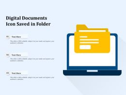 Digital Documents Icon Saved In Folder