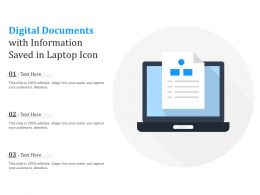 Digital Documents With Information Saved In Laptop Icon