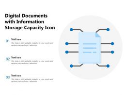 Digital Documents With Information Storage Capacity Icon