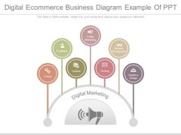 Digital Ecommerce Business Diagram Example Of Ppt
