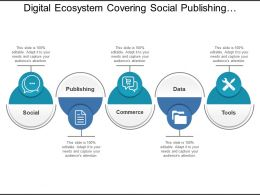 Digital Ecosystem Covering Social Publishing Commerce Data And Tools