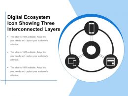 Digital Ecosystem Icon Showing Three Interconnected Layers