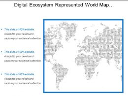 Digital Ecosystem Represented World Map Continents Earth Image