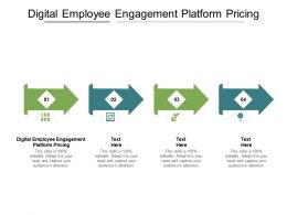 Digital Employee Engagement Platform Pricing Ppt Powerpoint Presentation File Formats Cpb