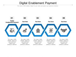 Digital Enablement Payment Ppt Powerpoint Presentation Outline Show Cpb