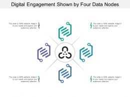 Digital Engagement Shown By Four Data Nodes