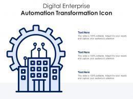 Digital Enterprise Automation Transformation Icon