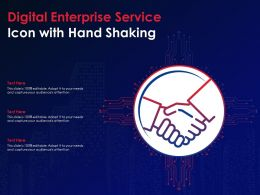 Digital Enterprise Service Icon With Hand Shaking